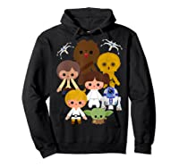 S Cute Kawaii Style Heroes Graphic C1 Shirts Hoodie Black