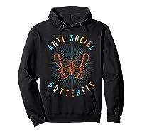 Anti Social Butterfly Shy Shirts Hoodie Black