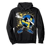 Dabbing Sweden Soccer Tshirt For Football Tee Hoodie Black