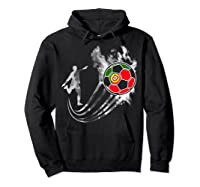 Portugal Soccer Team T-shirt For Fans And Players Hoodie Black