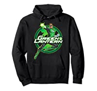 Green Lantern Glow Shirts Hoodie Black