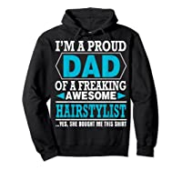 S Proud Dad Awesome Hairstylist Gift T-shirt Hoodie Black