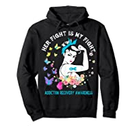 Her Fight Is My Fight Addiction Recovery Awareness Shirts Hoodie Black