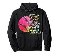 Baseball Funny Gift Team Play Like A Girl Softball Shirts Hoodie Black