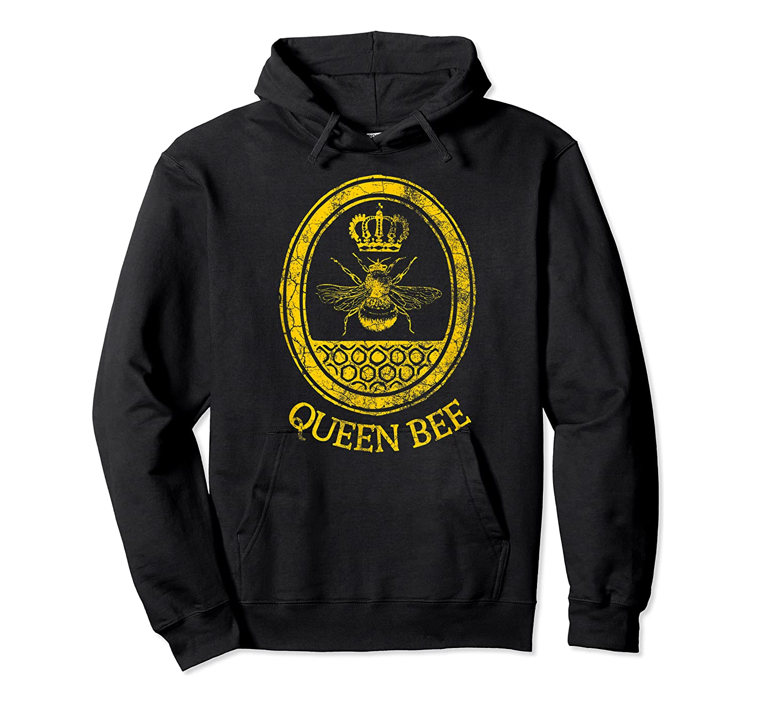 Queen Bee Vintage Beekeeper Mom Mother's Day Wife Gift Shirts Unisex Pullover Hoodie