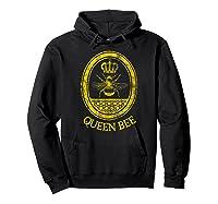 Queen Bee Vintage Beekeeper Mom Mother's Day Wife Gift Shirts Hoodie Black