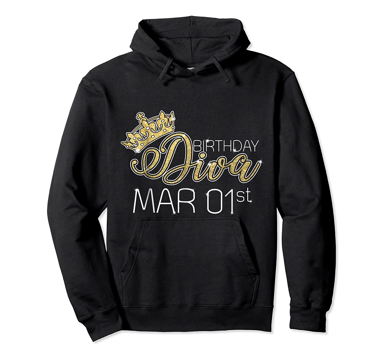 Birthday Diva On March 1st Pisces Pride Shirts Unisex Pullover Hoodie