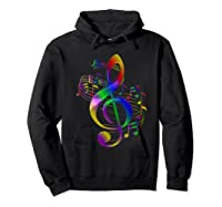 Treble Clef With Music Notes Shirts Hoodie Black