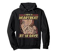 Pro Life Shirt - Catholic Tee - I Have A Heartbeat T-shirt Hoodie Black