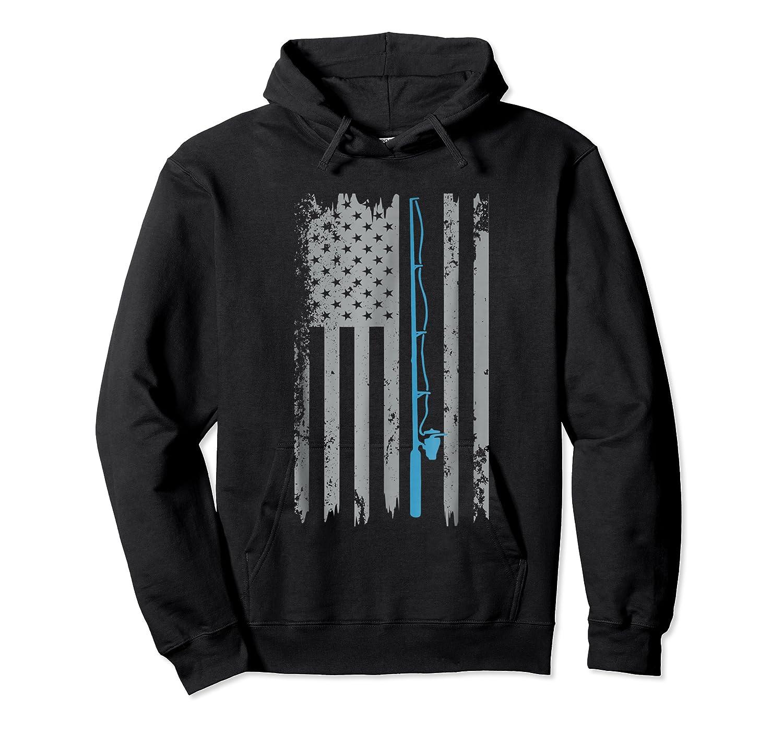 American Flag Fishing Vintage Fishing Shirts Unisex Pullover Hoodie