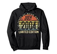 July 2004 Limited Edition 16th Birthday 16 Year Old Gift Shirts Hoodie Black
