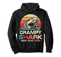 Grampy Shark Doo Doo Doo Fathers Day Gift Shirts Hoodie Black