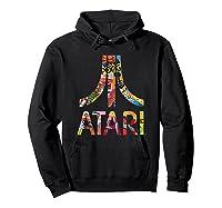 Atari Montage Logo Arms Shirts Hoodie Black