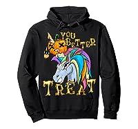 Unicorn Pumpkin Shirts Hoodie Black