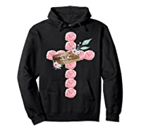 Where Flowers Bloom So Does Hope Floral Christian Cross Shirts Hoodie Black