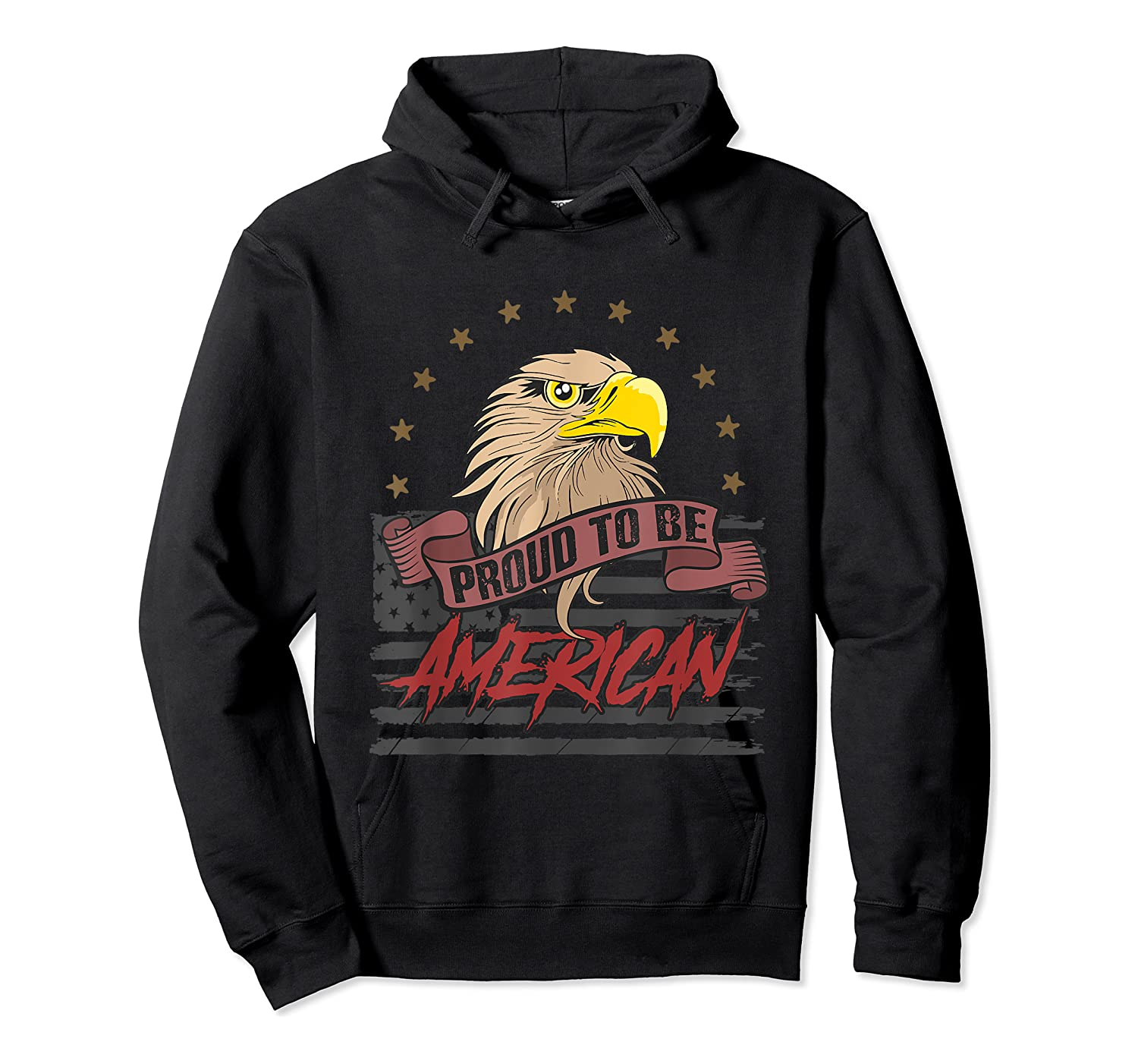 Cool American Flag Eagle Powerful Us Army Patriot Gift T-shirt Unisex Pullover Hoodie