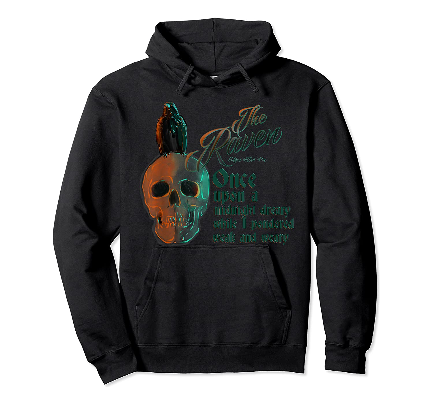 The Raven, Edgar Poe, Fan Art T-shirts And Gifts T-shirt Unisex Pullover Hoodie