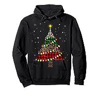 Christmas Tree Leopard Print Buffalo Plaid Merry Xmas Gift Shirts Hoodie Black