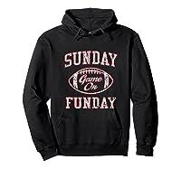 Vintage Sunday Funday T Shirt New England Football Retro Tee Hoodie Black