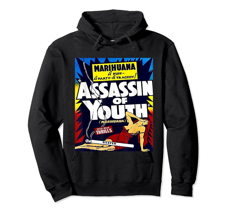 Marijuana Warning Reefer Madness Fun Vintage Funny Graphic Shirts Unisex Pullover Hoodie