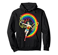 Wonder Woman Rainbow Love Shirts Hoodie Black