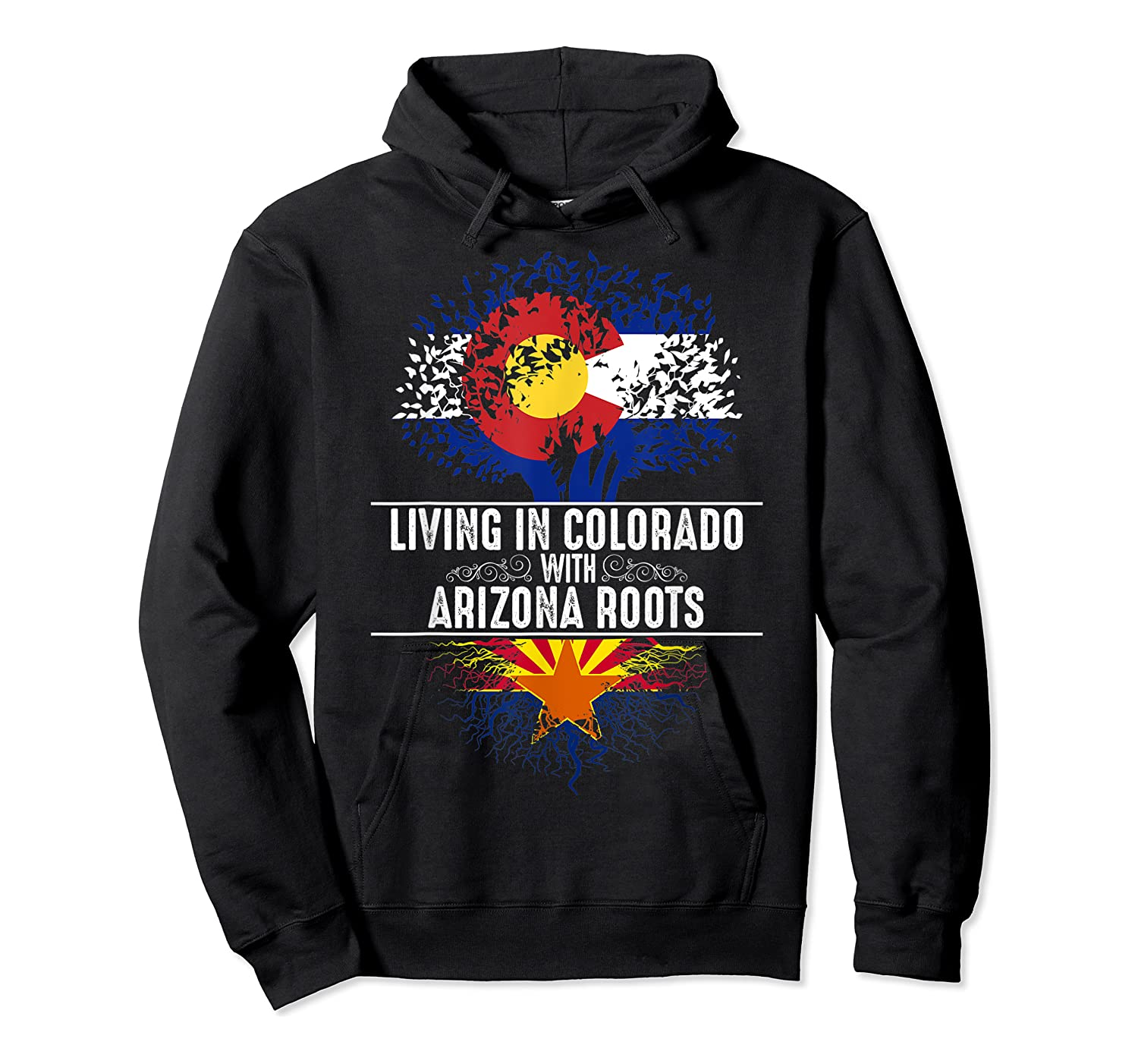 Colorado Home Arizona Roots State Tree Flag Love Gift Shirts Unisex Pullover Hoodie