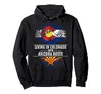 Colorado Home Arizona Roots State Tree Flag Love Gift Shirts Hoodie Black