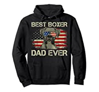 Best Boxer Dad Ever Dog Lover American Flag Gift Shirts Hoodie Black