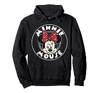 Circle Minnie Shirts Hoodie Black