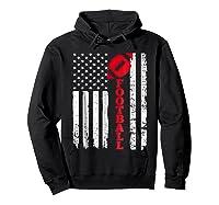Football Shirt: Usa American Flag Sport Team Fan T-shirt Hoodie Black
