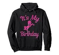 It\\\'s My 8th Birthday Girls Party 8 Pink Unicorns T-shirts T Hoodie Black