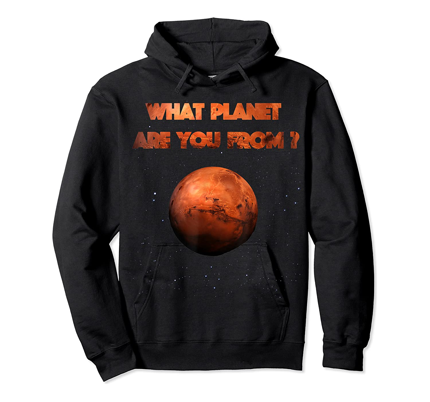 Planet Mars Planet In Solar System Shirts Unisex Pullover Hoodie