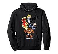 Fantastic Four Shirts Hoodie Black