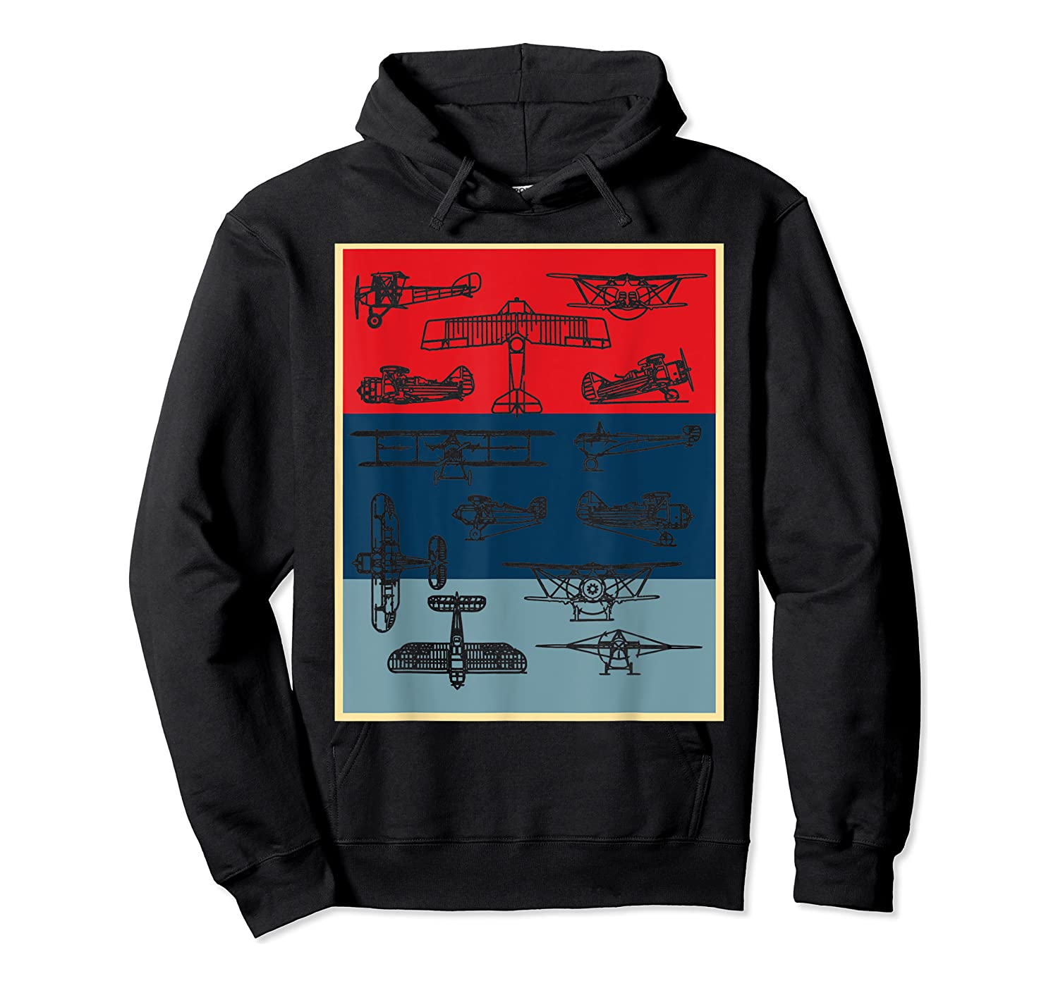 Aneisha Vintage Airplane Gift For Pilot Aviation Students Shirts Unisex Pullover Hoodie