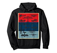 Aneisha Vintage Airplane Gift For Pilot Aviation Students Shirts Hoodie Black