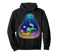 Underwater Treasure Hunter Cat Adventure Shirts Hoodie Black