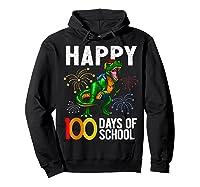 100 Days Of School Dinosaur T Rex Pencil Backpack Gift Shirts Hoodie Black
