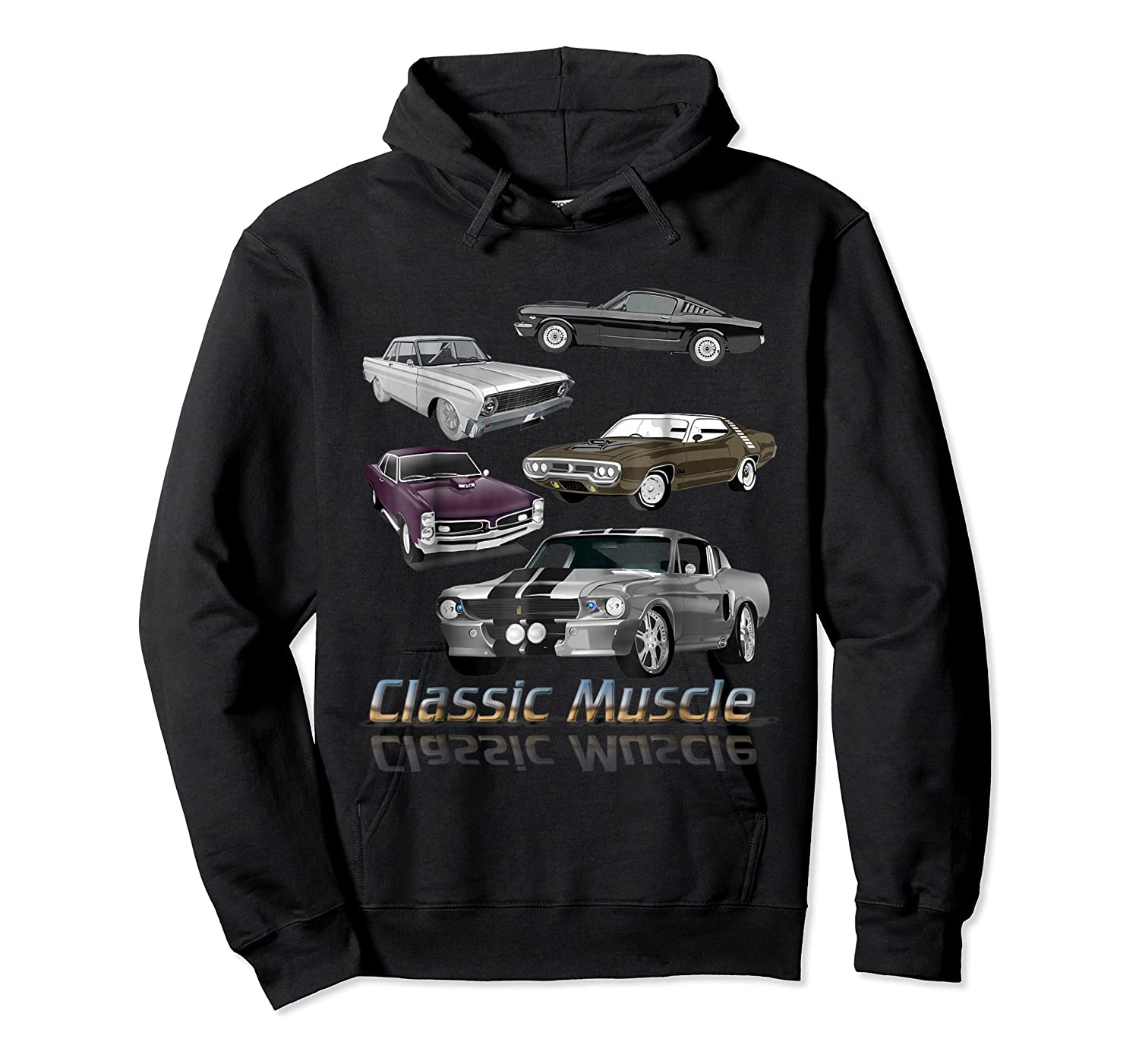 Classic American Muscle Cars Vintage Gift Shirts Unisex Pullover Hoodie