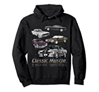 Classic American Muscle Cars Vintage Gift Shirts Hoodie Black