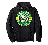 Football Is Everything - Brazil Vintage T-shirt Hoodie Black
