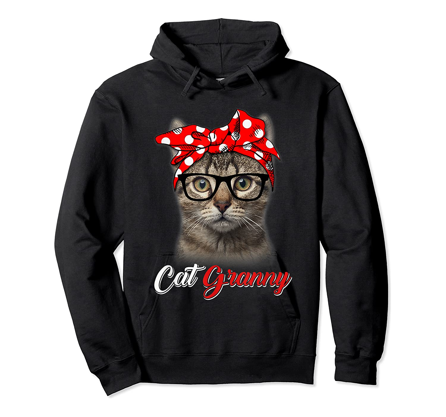 Funny Cat Granny Shirt For Cat Lovers-mothers Day Gift Unisex Pullover Hoodie