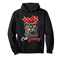 Funny Cat Granny Shirt For Cat Lovers-mothers Day Gift Hoodie Black