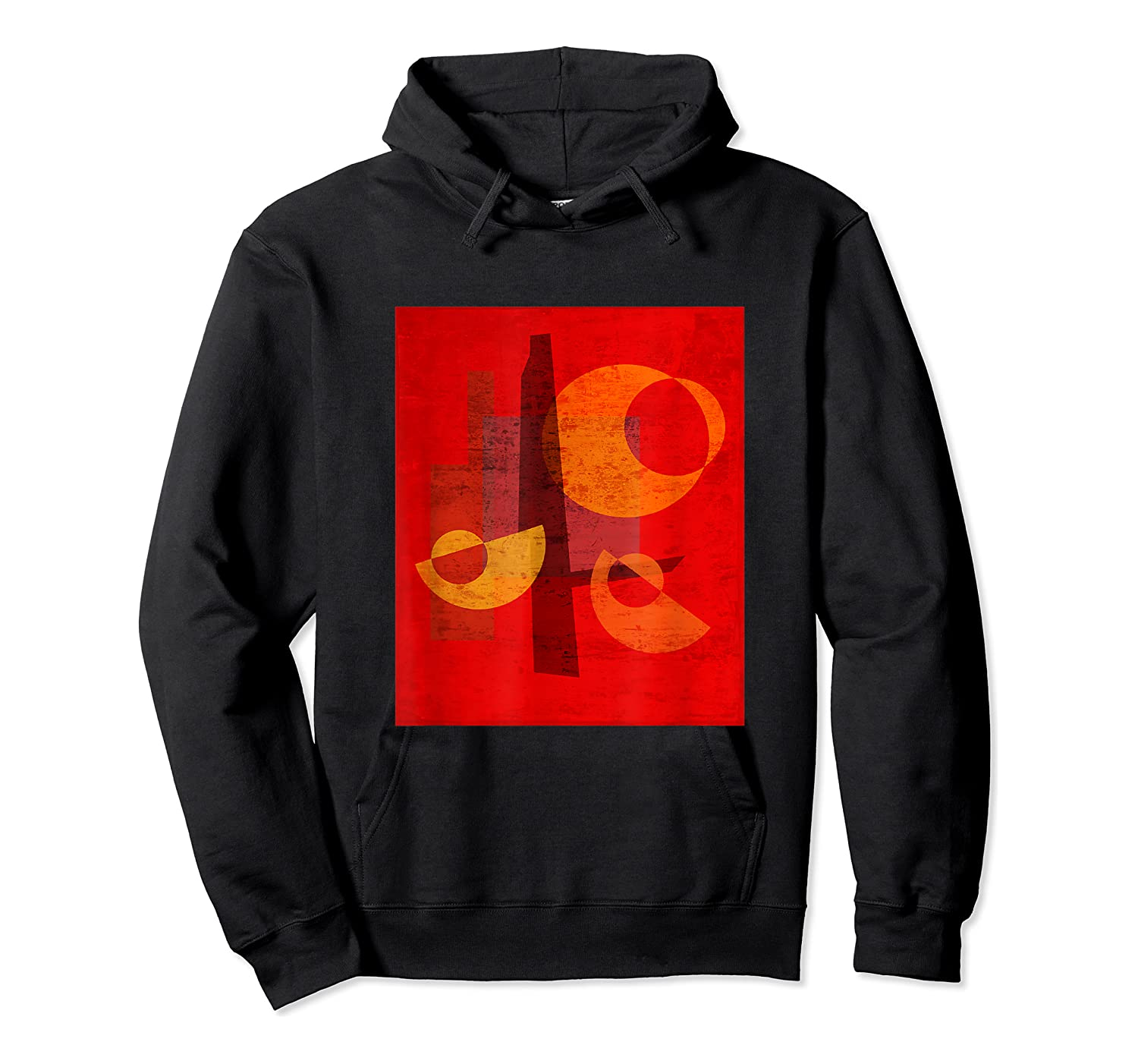 Red And Orange Abstract Shapes Shirts Unisex Pullover Hoodie
