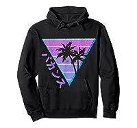 90's Retro Palm Japanese Otaku Grunge Aesthetic Vaporwave Shirts Hoodie Black