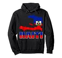 Vintage Haitian Flag I Love Haiti Shirts Hoodie Black