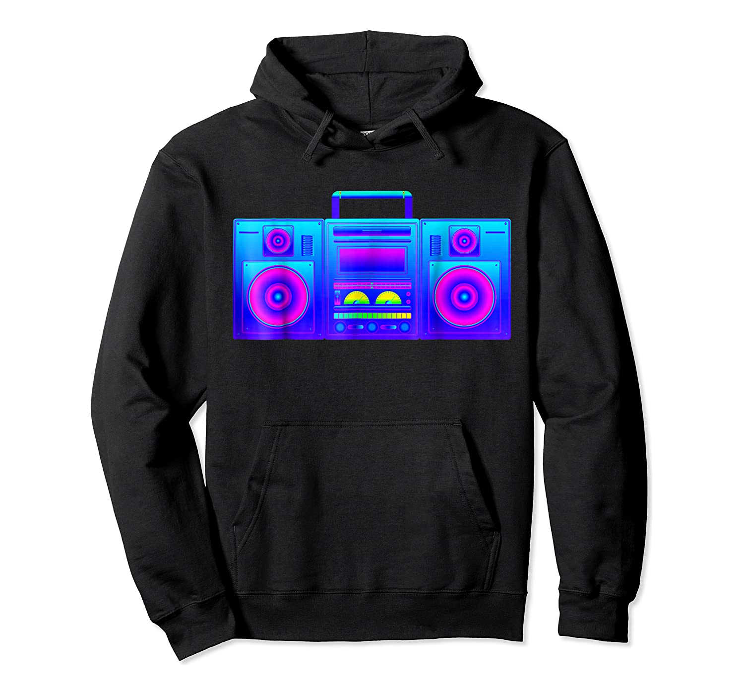 Boombox Trippy Hip Hop Rave Shirts Unisex Pullover Hoodie