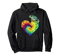 Tie-dye Heart Love Tree Frog Cute Funny Colorful T-shirt Hoodie Black