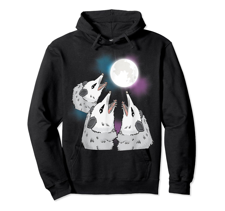 Three Opossum Moon S Shirts Unisex Pullover Hoodie