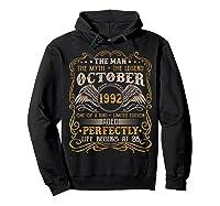 October 1992 Man Myth Legend 28th Birthday 28 Years Old Shirts Hoodie Black