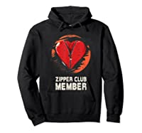 Open Heart Surgery Shirt Survivor Post Attack Recovery Gift Hoodie Black